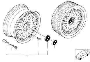 BMW Composite wheel, Y-spoke 80