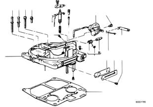 Víko karburátoru