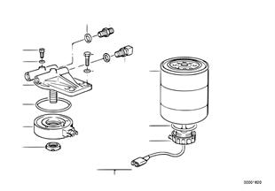 Φίλτρο καυσίμου με σύστημα θέρμανσης