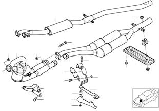 parti aggiuntive 525 e scarico Klarius TUBO GAS DI SCARICO SINISTRO NUOVO BMW 5 e28 520i