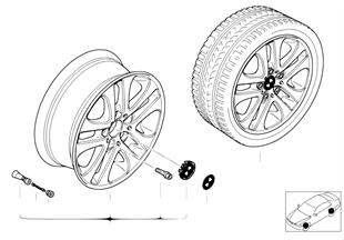 BMW 경합금 휠,더블스포크 79