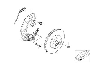 Freno de la rueda delantera-disco freno