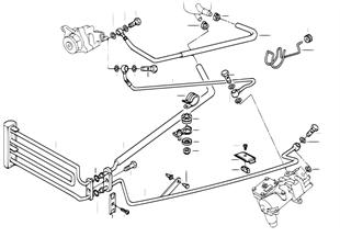 Hydrolenkung-Ölleitungen