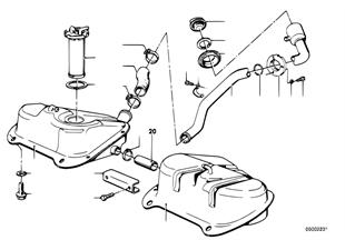 Benzinetank/aanbouwdelen