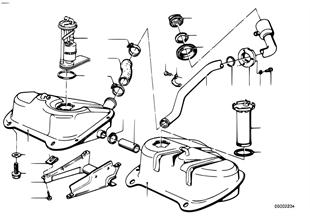 Benzinetank/benzine pomp systeem