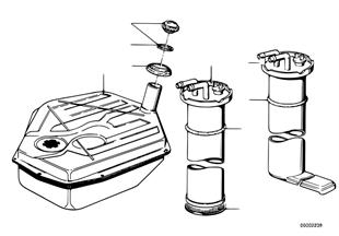 Palivová nádrž/montážní díly