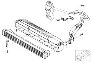 Radiador de aceite del motor