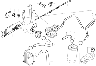 1pu4 fuel inject syst diesel high press pump bmw 3' e46 330d m57 europe bmw e46 fuel system diagram at virtualis.co