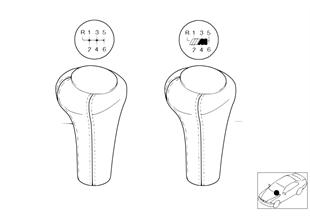 Individual Schaltknopf Leder