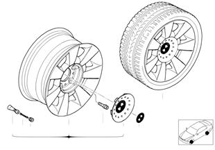 BMW LM Rad Sternspeiche 83