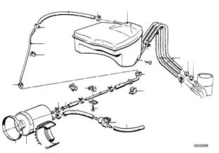 Druk reservoir/actiekoolfilter