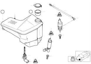 Бачок системы омывателей фар