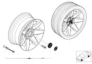 BMW LM Rad Sternspeiche 81