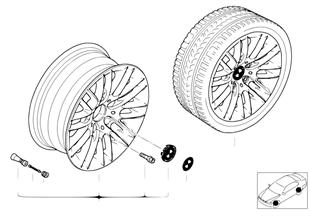 BMW LM Rad Parallelspeiche 82