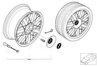 BMW Composite wheel, star spoke 76