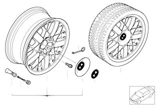 BMW Composite wheel, star spoke 77