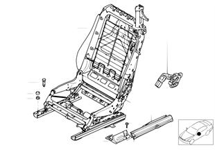 Fotel przed., rama fotela/oparcia