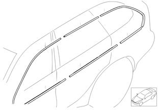 Retrofitting conversion accessories bmw x5 e53 x5 for Chrome line exterieur