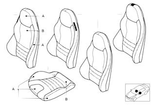 個性化的座套 M 跑車座椅 Bicolor