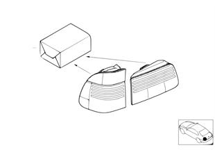 К-т доосн.блоками задн.фон.Facelift 2000