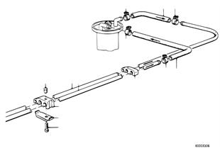 Топливопровод/ элементы крепления