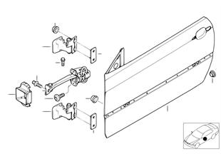 Tür vorn — Scharnier/Türbremse