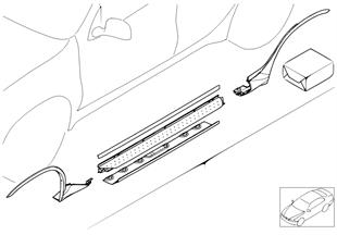 Retrofit kit, aluminium footboard
