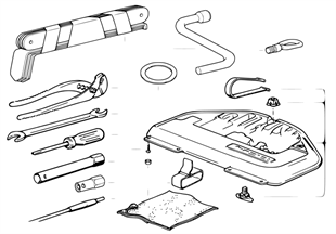 Herramientas d a bordo/Caja herramientas