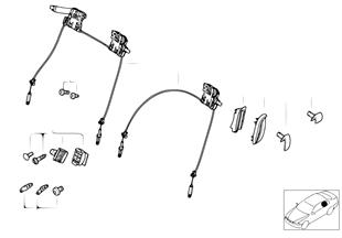 Сиденье Пд-механизм разблокировки спинки