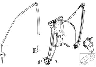 Mechanizm szyby drzwi przednich