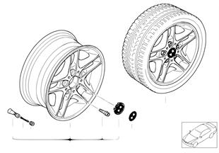 BMW 輕質合金輪輞 雙輪輻 88