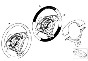 Individ. sportstuurwiel, airbag, SA 255