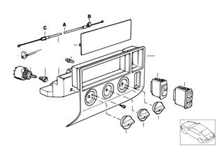 Ovládací panel topení