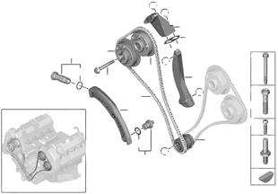Steuertrieb-Steuerkette Zylinder 1-4