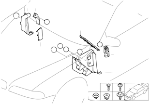 Боковая обшивка пространства для ног