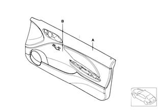 Individual door inset front, airbag