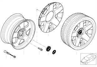 BMW LA wheel, star spoke 90