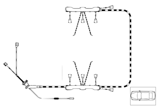 Faisceau câbles moteur module d'allumage