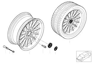BMW light alloy wheel, radial spoke 32