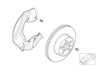 Vorderradbremse-Bremsscheibe
