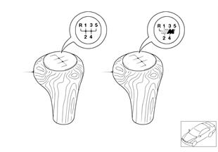 Reequipamiento botón conmutación madera