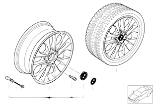 BMW 輕質合金輪輞 雙輪輻 98