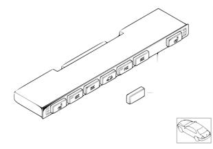 Switch unit, center console