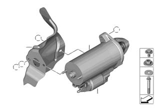 Crankshaft starter generator | BMW 5' F10 Hybrid 5 N55 Europe