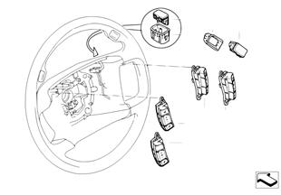 Switch, steering wheel