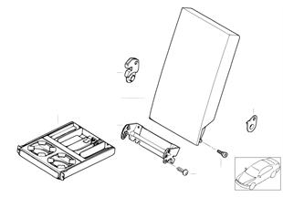 Fotel tylny, podłokietnik środkowy