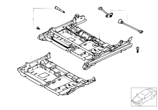 Front seat rail