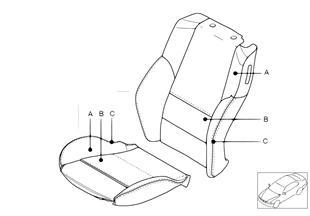 Tapiz. Individual asiento dep., cuero N6