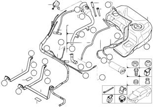 Yakıt deposu/Montaj parçaları
