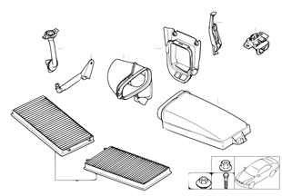 Microfilter/housing parts